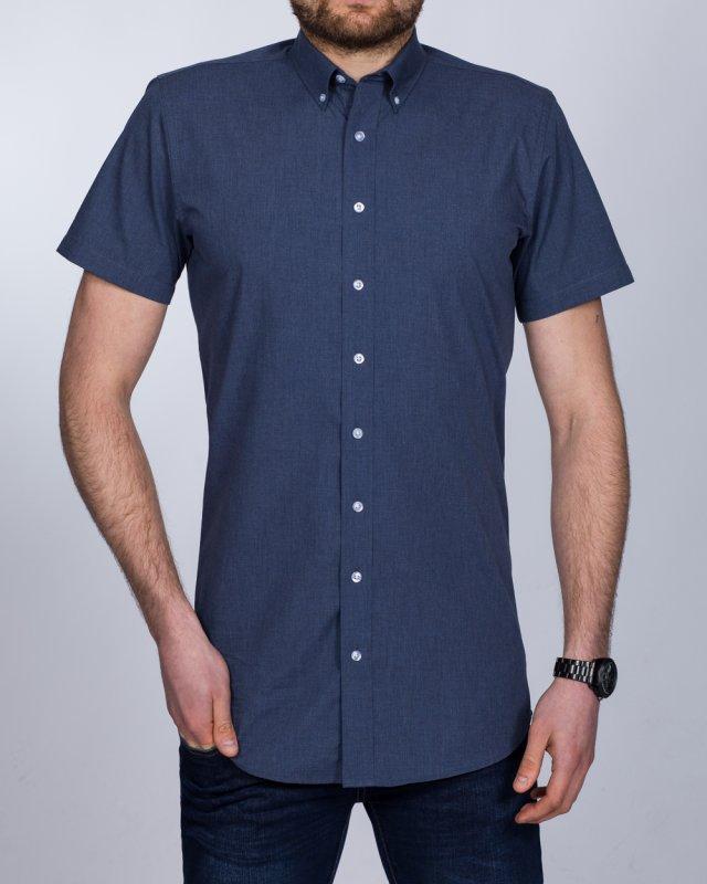 2t Slim Fit Short Sleeve Tall Shirt (blue denim)