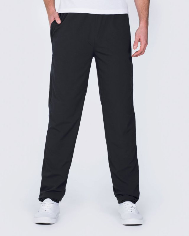 2t Zip Up Tall Tracksuit Bottoms (black)