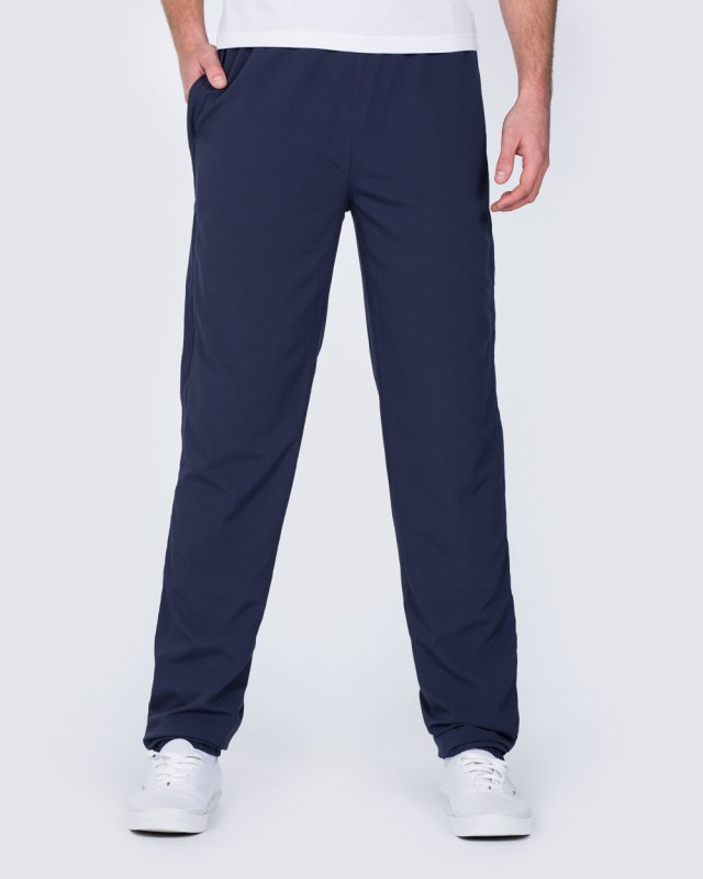 2t Zip Up Tall Tracksuit Bottoms (navy)