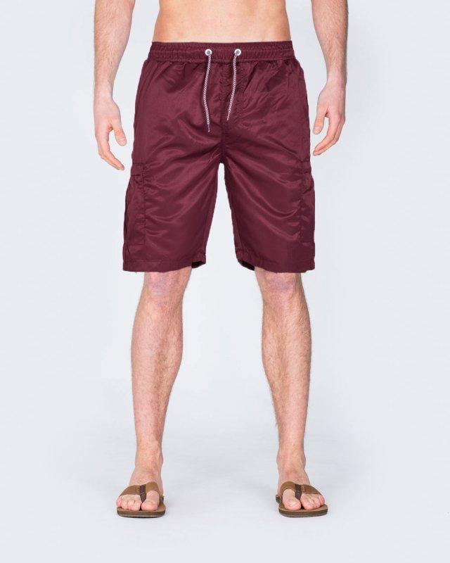 2t Tall Cargo Swim Shorts (burgundy)