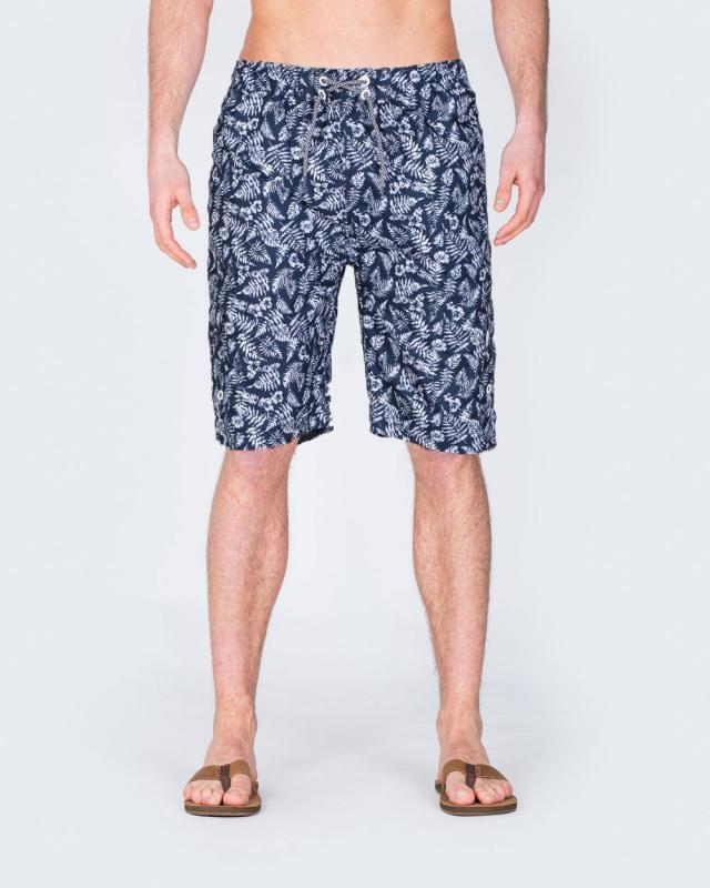 2t Tall Swim Shorts (navy leaf)