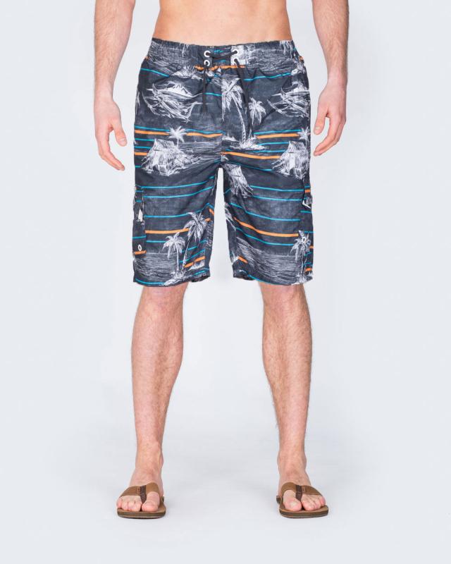 2t Tall Swim Shorts (charcoal palm)