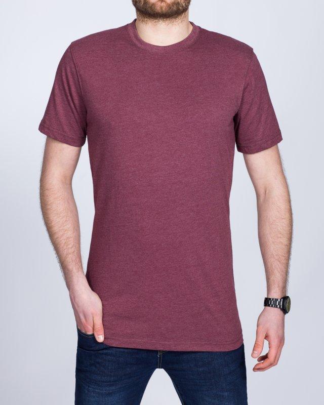 2t Tall T-Shirt (burgundy marl)