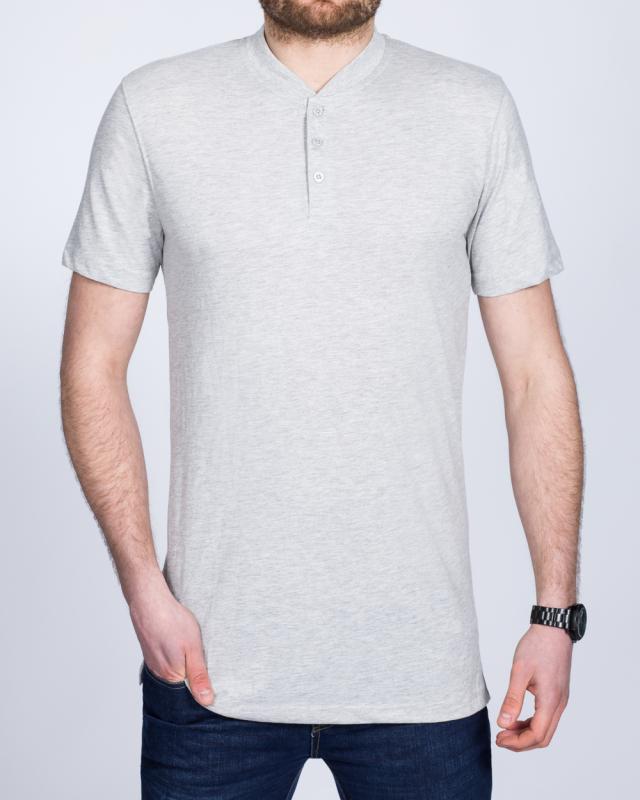 2t Tall Henley T-Shirt (heather grey)
