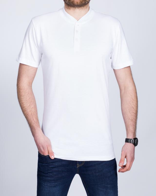 2t Tall Henley T-Shirt (white)