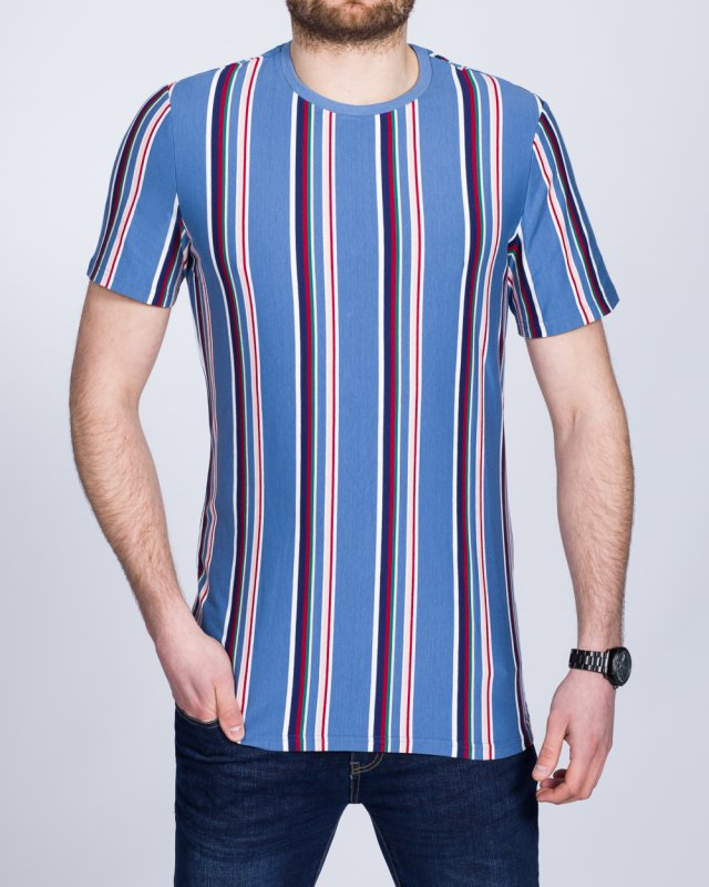 2t Tall Striped T-Shirt (denim)