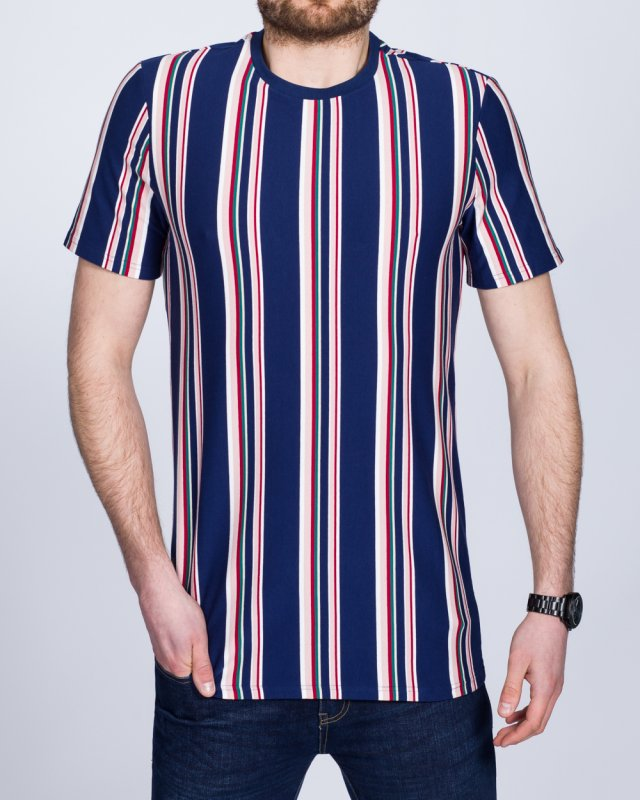 2t Tall Striped T-Shirt (navy/red)