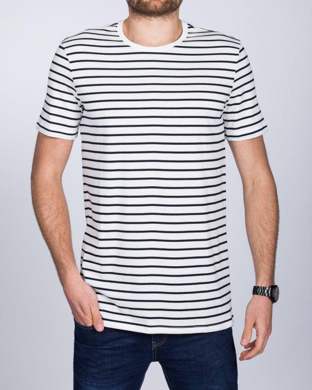 2t Tall Striped T-Shirt (white)