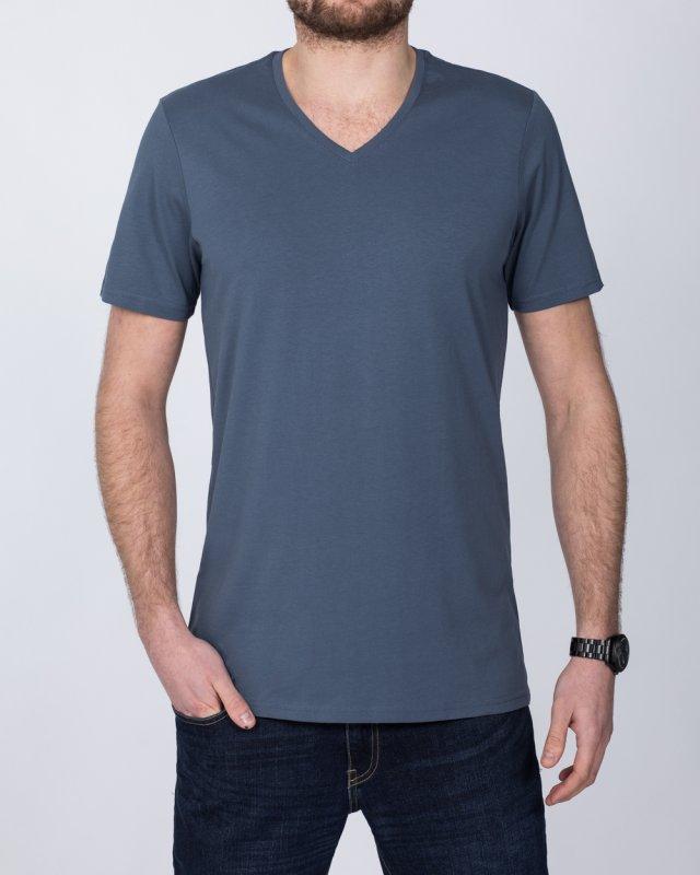 Girav New York Extra Tall V-Neck (stone blue)