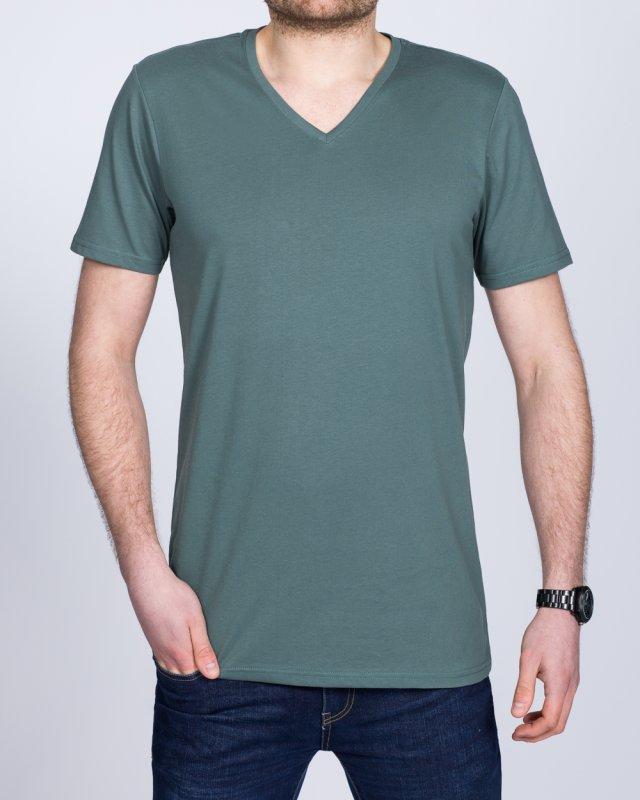 Girav New York Tall V-Neck (metal green)