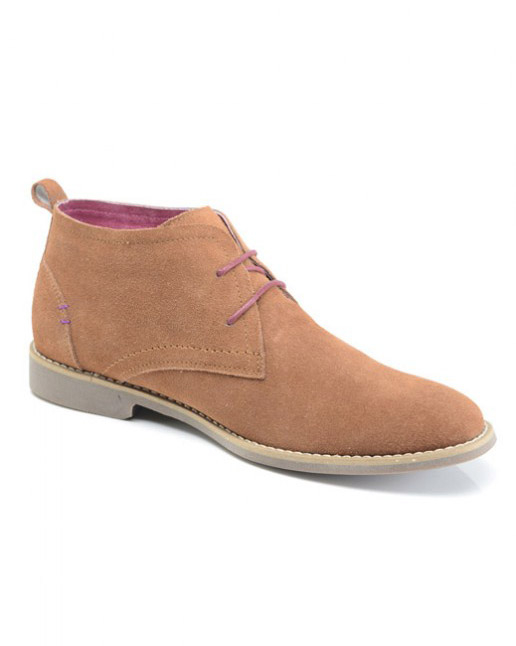Front Roscoe Suede Desert Boot (tan)