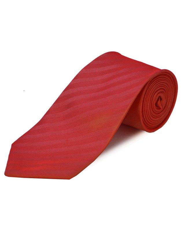 Double Two Extra Long Herringbone Tie (red)