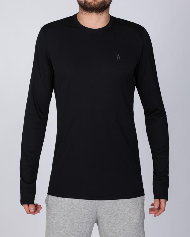 2t Long Sleeve Dry Tech Training Top (black)