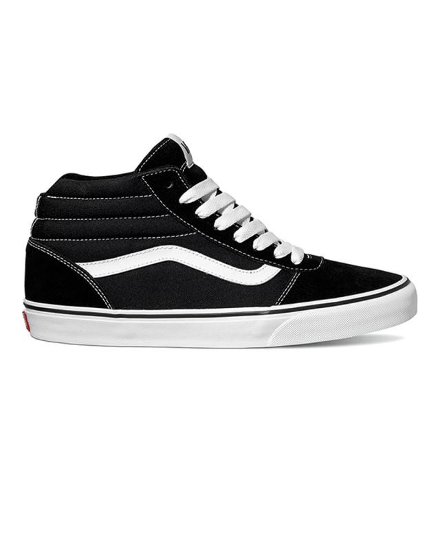 Vans Suede/Canvas Ward Hi (black/white)