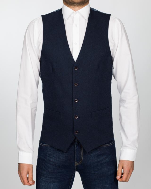 Skopes Slim Fit Tall Chadwick Waistcoat (navy)