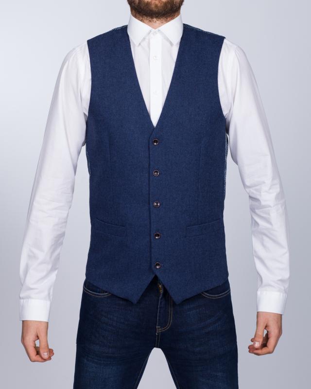 Skopes Slim Fit Tall Chadwick Waistcoat (blue)
