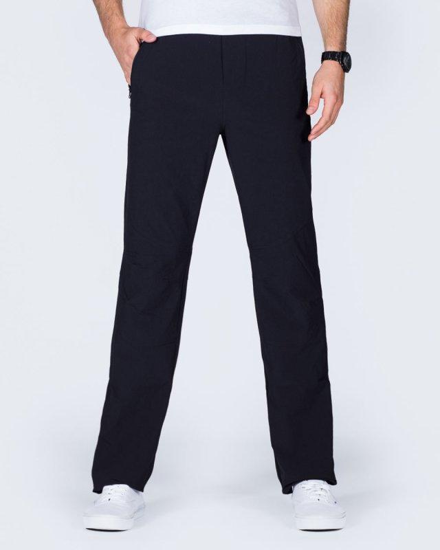 2t Thomas Slim Fit Tall Walking Trousers (black)