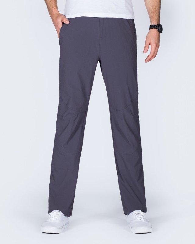 2t Thomas Slim Fit Tall Walking Trousers (grey)