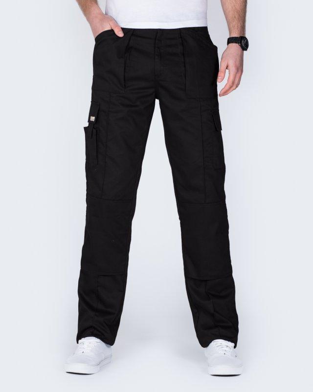 Ed Baxter Multi Pocket Tall Workwear Trousers (black)