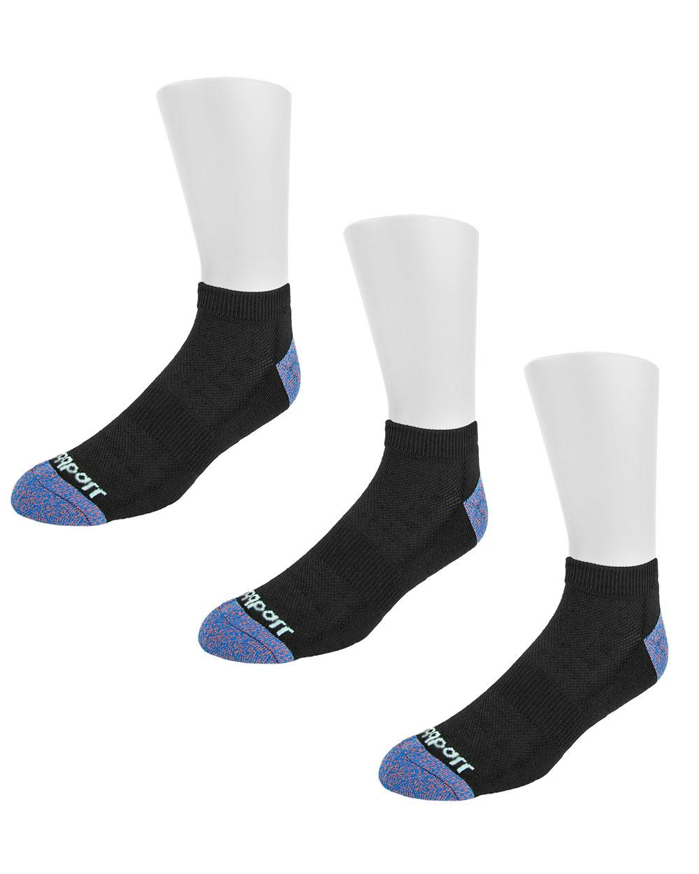 Oddball Performance No Show Socks 3 Pack (black)