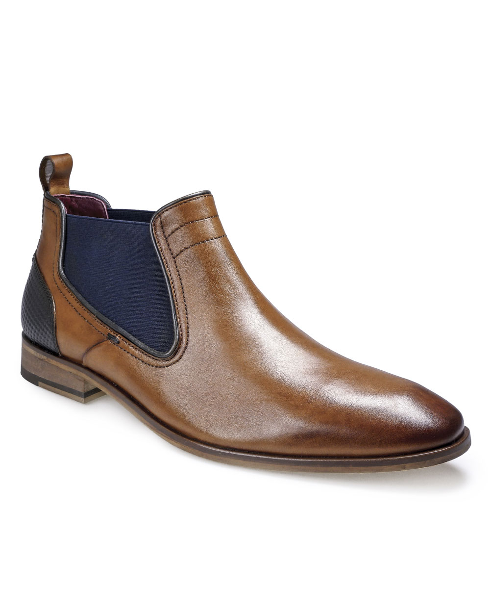 Pod Paul O'Donnell Odessa Chelsea Ankle Boot (cognac/navy)