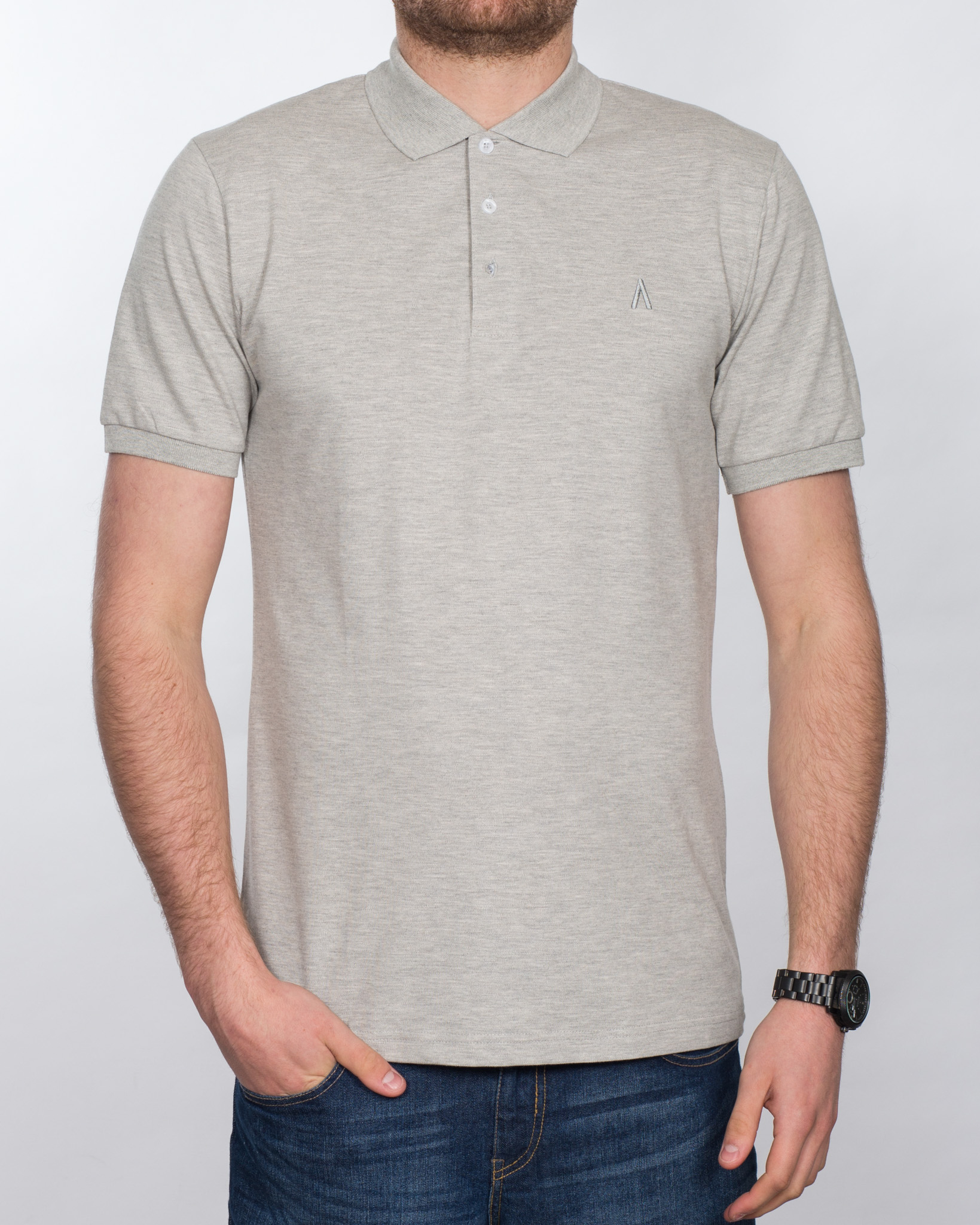 2t Slim Fit Tall Polo Shirt (heather grey)