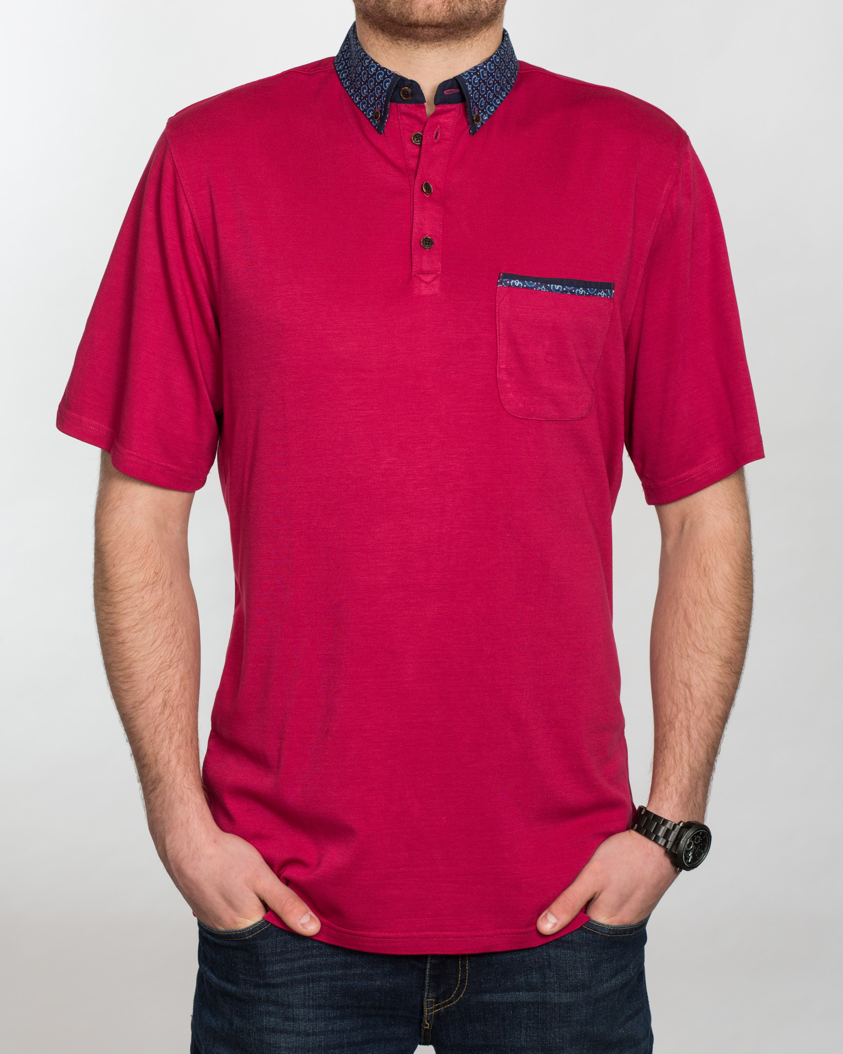 Mish Mash Thornhill Tall Polo Shirt (raspberry)