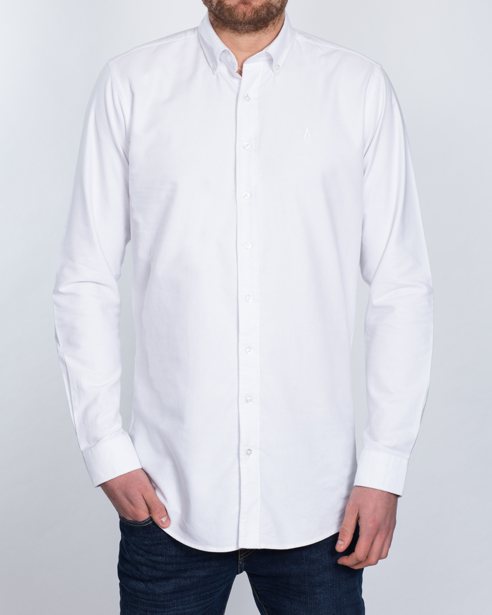 2t Oxford Slim Fit Long Sleeve Tall Shirt (white)