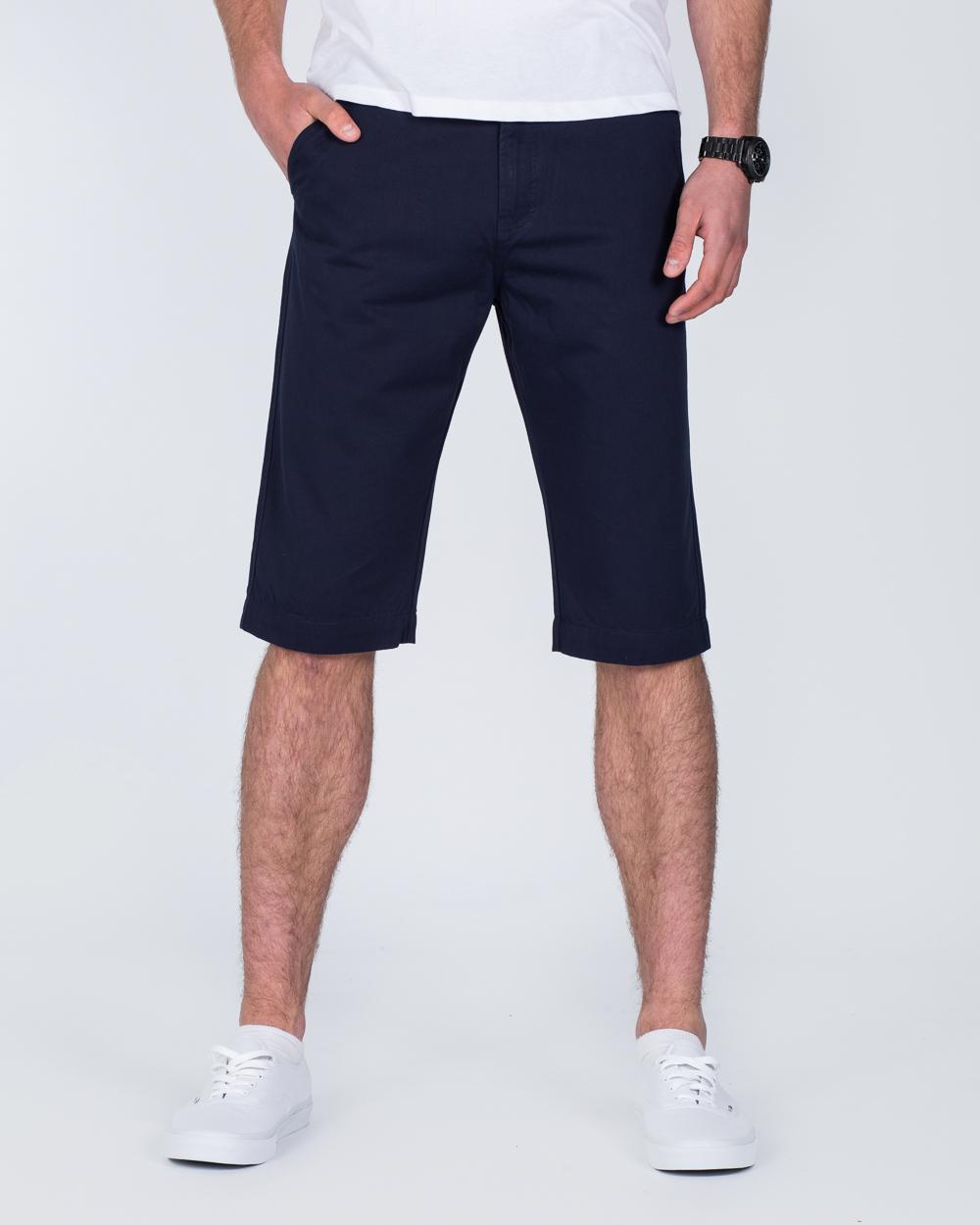 Ed Baxter Marakesh Tall Chino Shorts (navy)