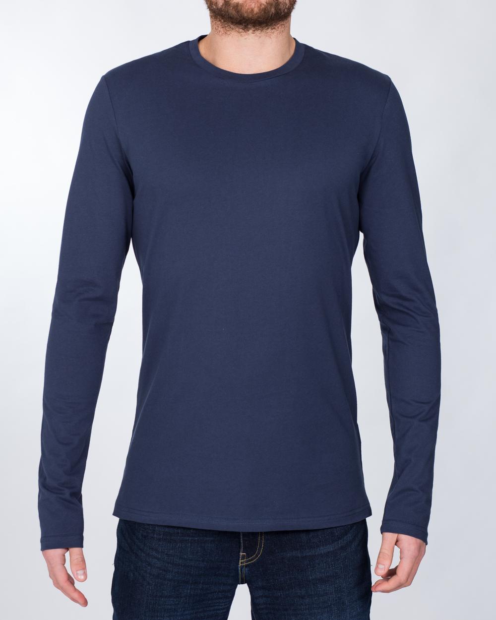 2t Tall Long Sleeve T-Shirt (navy)