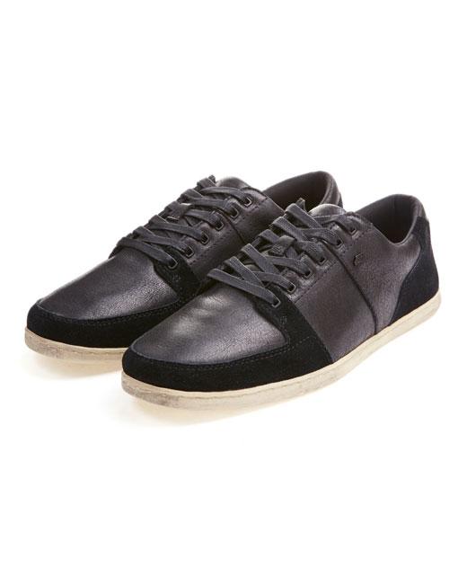 Boxfresh Spencer Leather/Canvas (black)