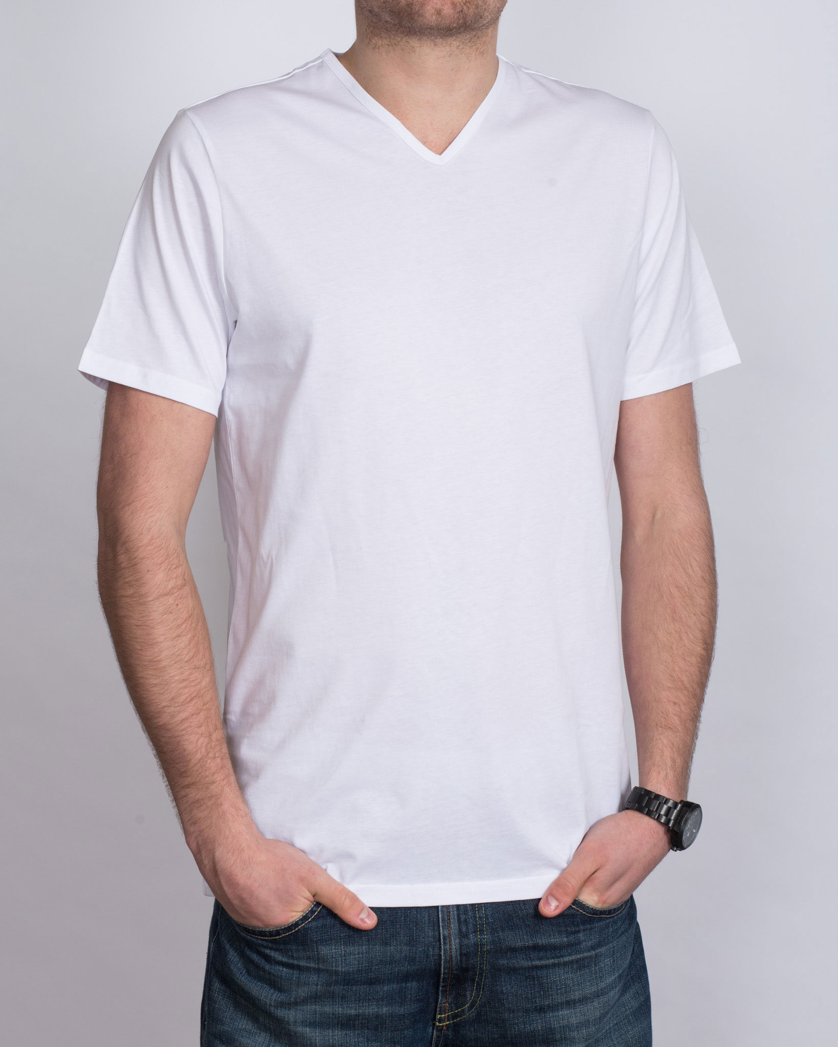 2T Extra Tall V-Neck T-Shirt (white)