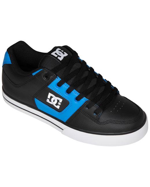 DC Shoe Pure Skate Shoes (black/blue)