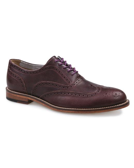 J Shoes Charlie Leather Brogues (raisin)