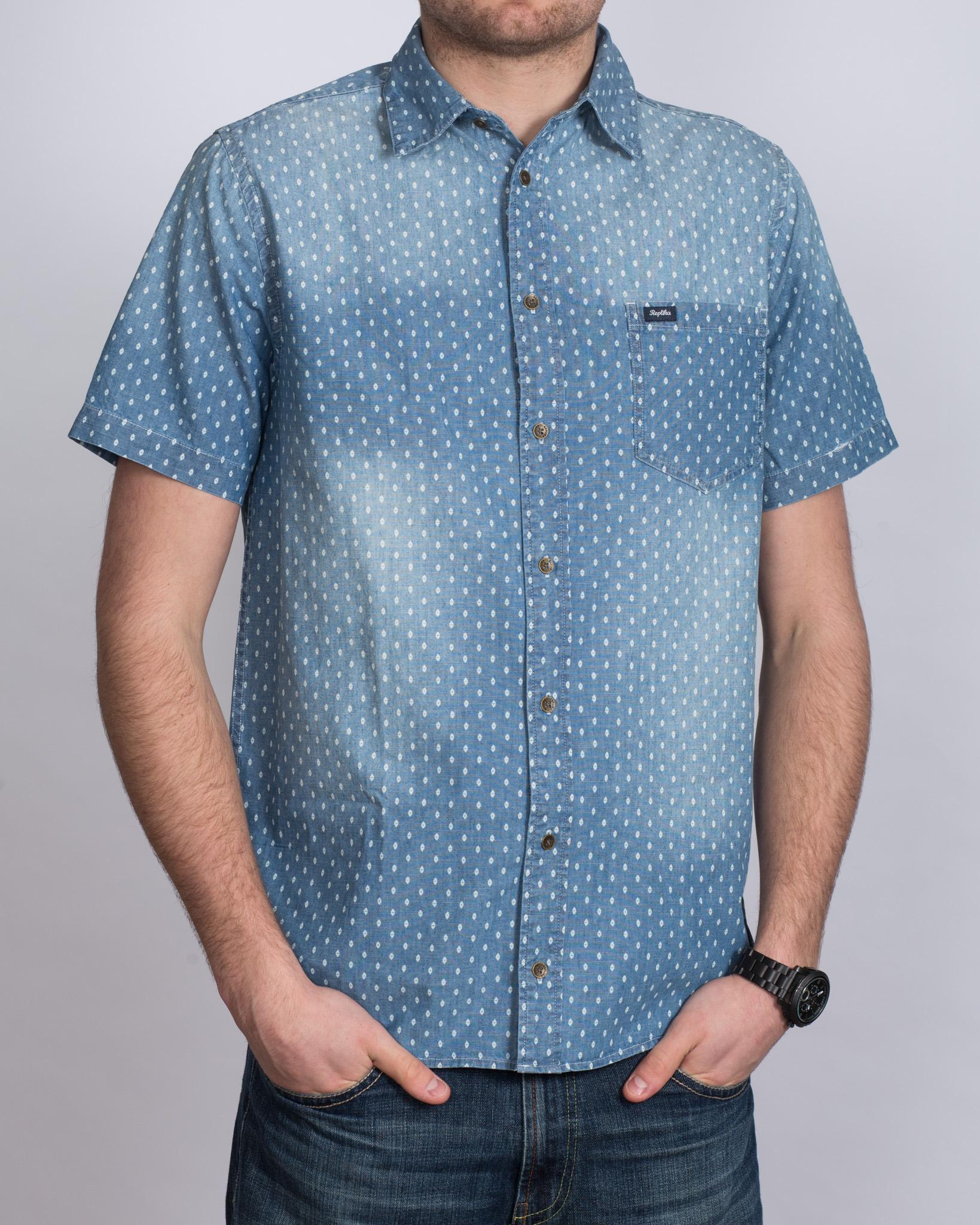 Replica Printed Tall Shirt (navy)
