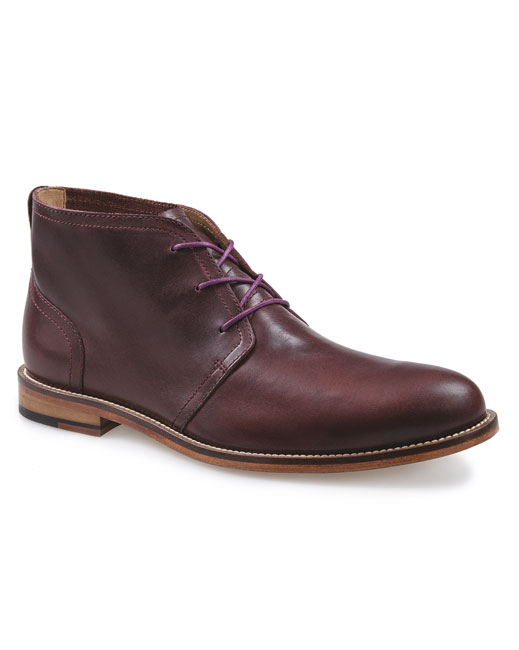 J Shoes Monarch Plus Leather Chukka (raisin)