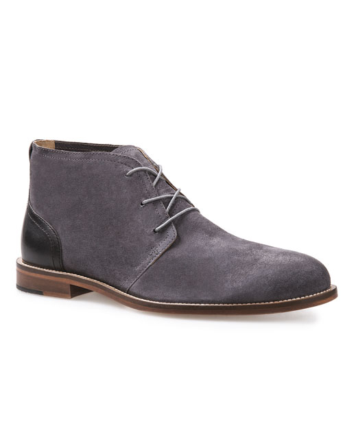 J Shoes Monarch Leather Chukka (grey/black)