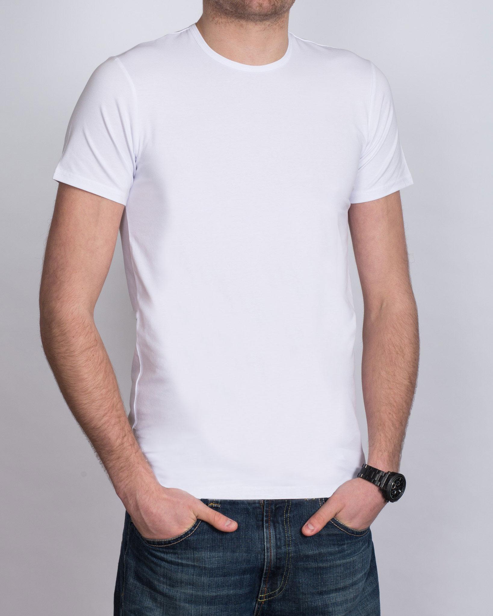 Girav Fitted Tall T-Shirt (white) Twin Pack