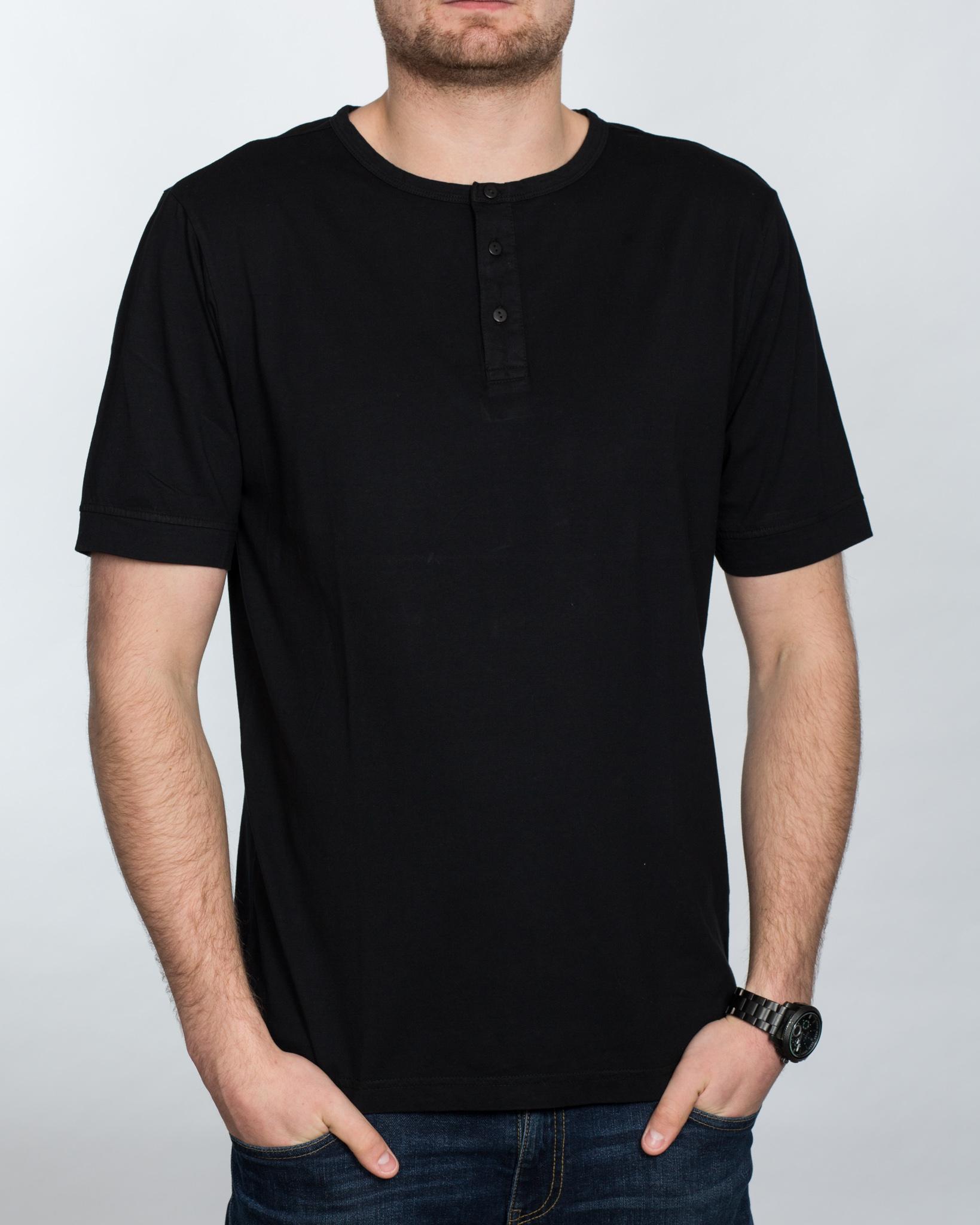 Replica Grandad Shirt (black)