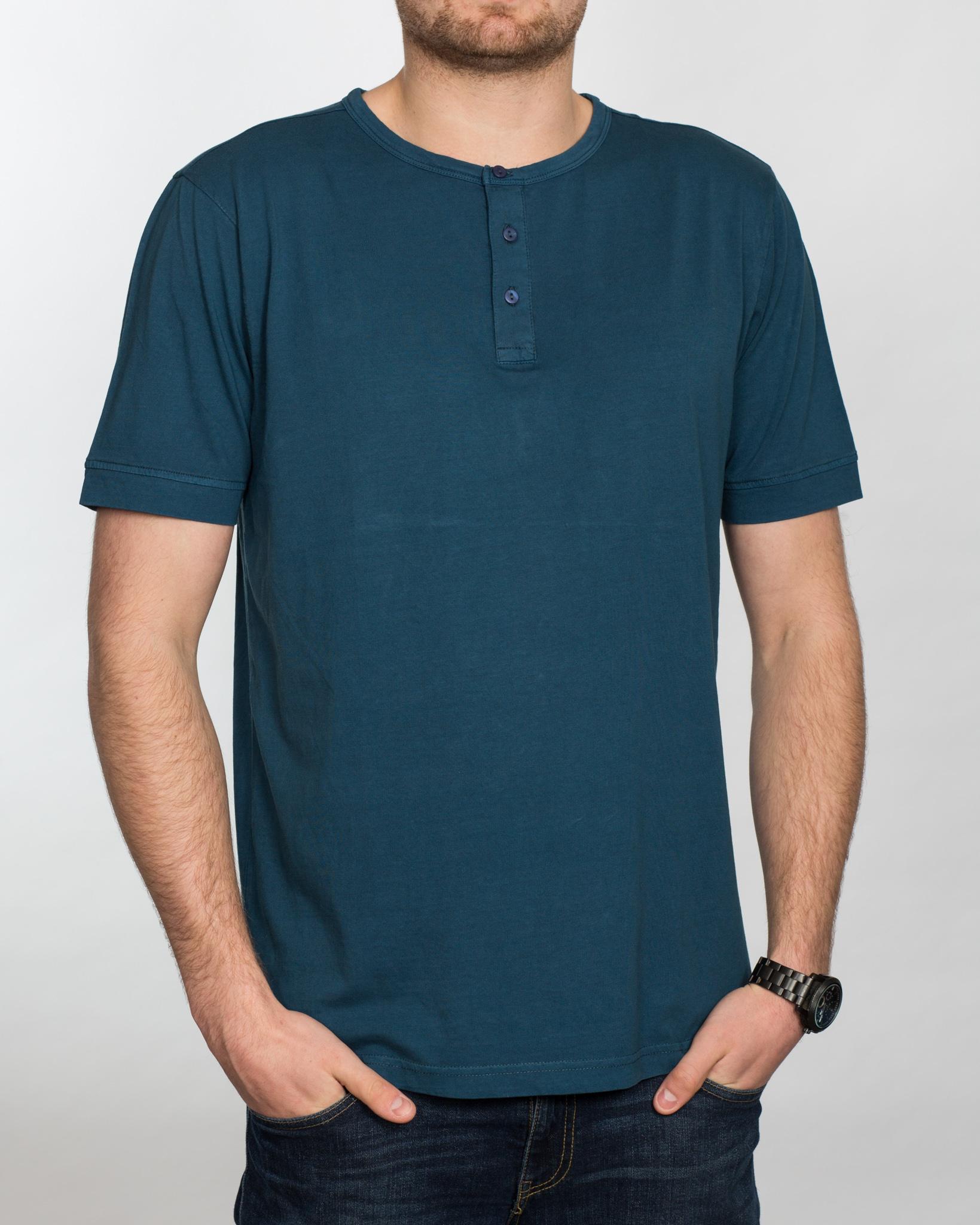 Replica Grandad Shirt (petrol)