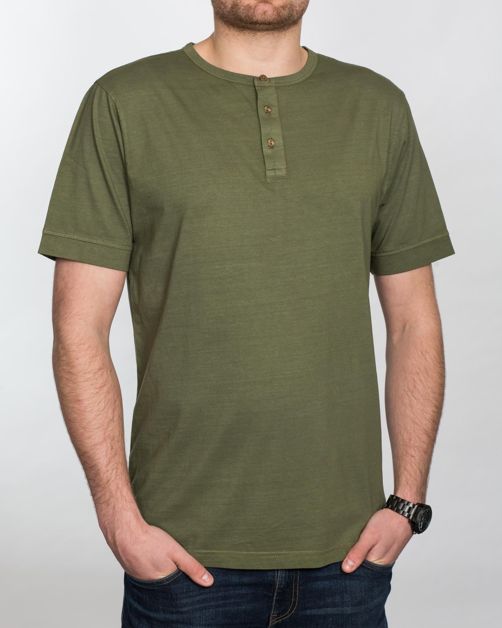 Replica Grandad Shirt (olive)