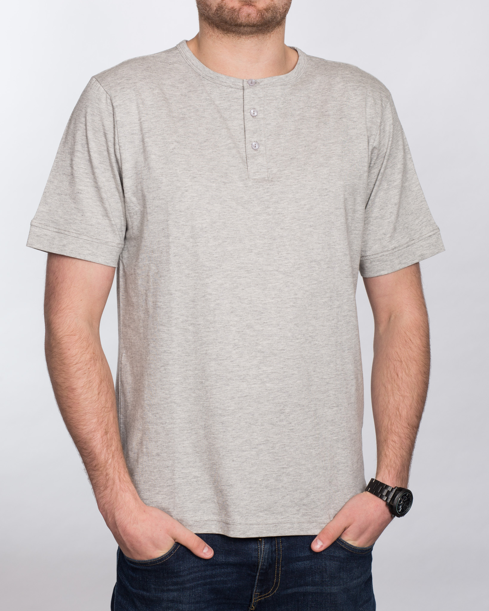 Replica Grandad Shirt (heather grey)