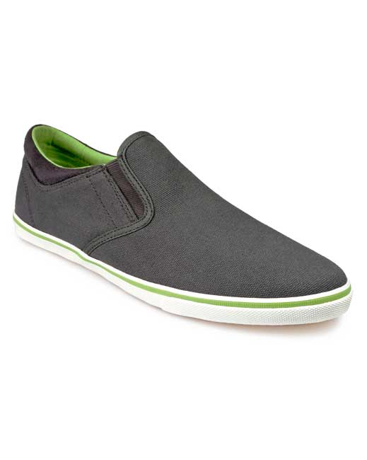 Pod Jetty Canvas Shoe (grey/lime)