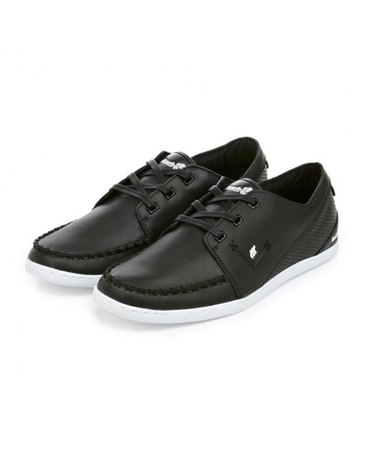 Boxfresh Keel Leather Deck Shoe (black/white)