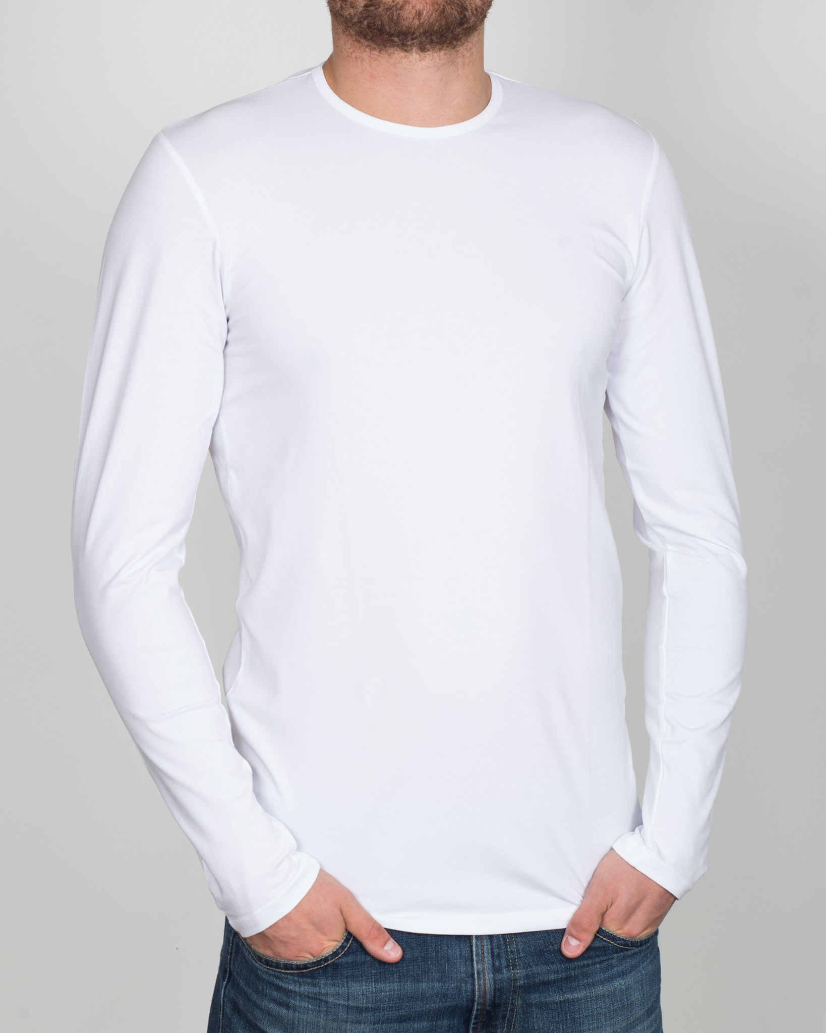 Girav London Long Sleeve Extra Tall T-Shirt (white)