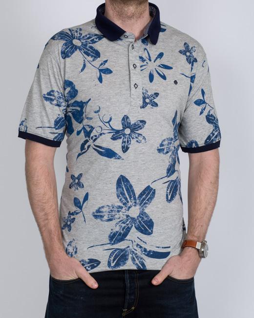 Mish Mash Peroni Tall Polo Shirt (blue)