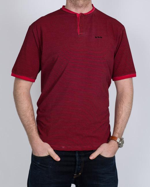 Oakman Fine Striped Tall T-Shirt (red)