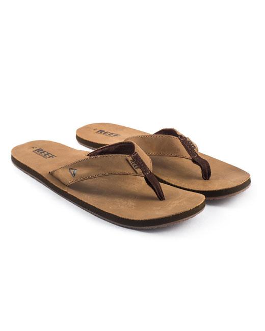 Reef Smoothy Leather Flip Flops (bronze/brown)