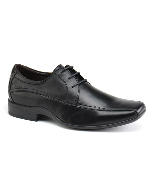Front Ryton Lace-Up Shoe (black)