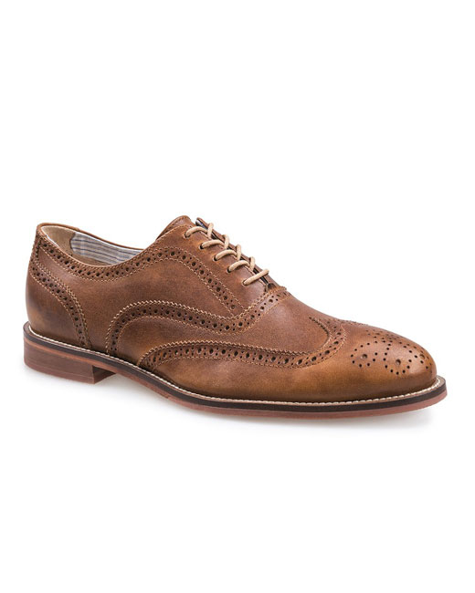 J Shoes Charlie Plus Suede Leather Brogues (clyde brass)